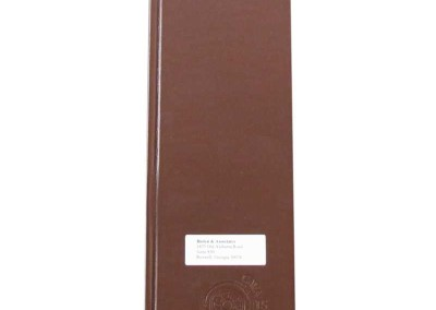leather menu 4.25x14 die cut window
