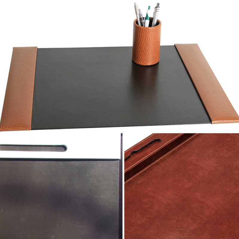 des durable desk product with x foam contoured backing anti slip edge w mat
