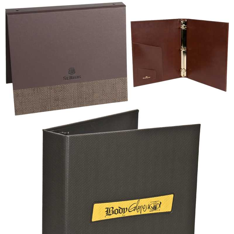 Custom Designed Ring Binders for Corporate, Restaurants, Hotels