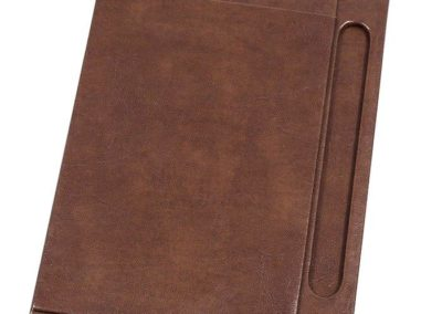 leather hotel room desk mat / note holder