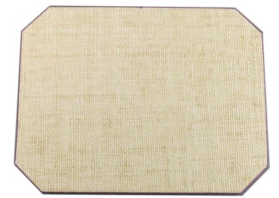 grass cloth-placemat-mitered