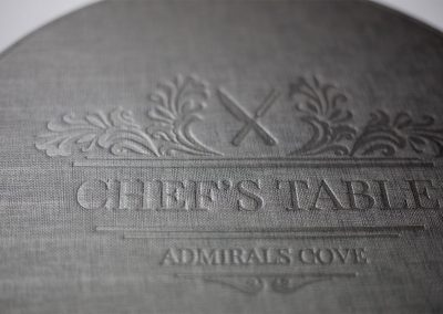 Chef table mat 2 wr